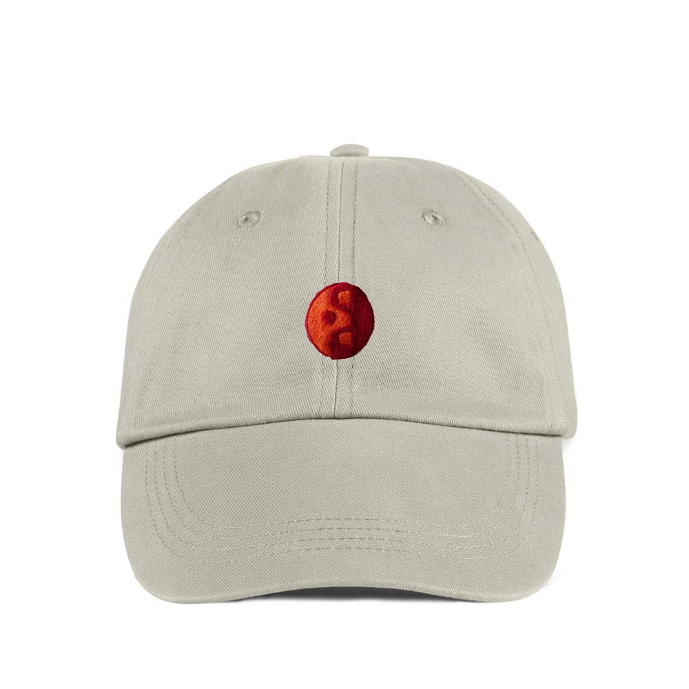 "Image of TAKEGOODCARE™ ""RED YIN"" DAD CAP BEIGE"