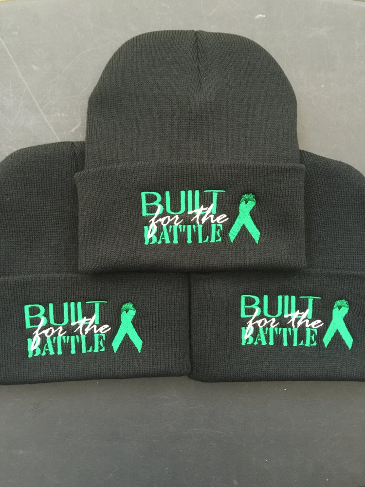 "Image of ""BUILT for the BATTLE"" Any Ribbon Color For Any Cause  (Color options in drop dow menu OR EMAIL)"