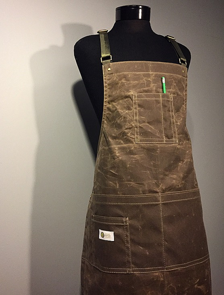Image of Wax Canvas Shop Apron | HERITAGE | Handmade Wax Bib Apron.