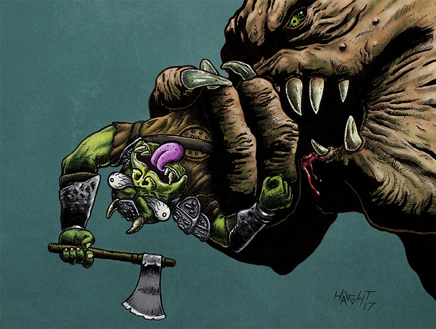 Image of 'Rancor Snacks' - Signed/limited Print