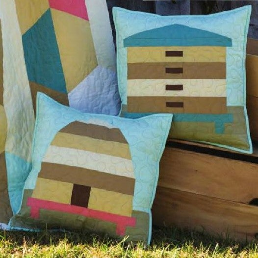 Image of Beetopia Skep Throw Pillow Cover Quilt Patterns