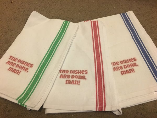 Image of 3-Pack - The Dishes Are Done Man - Dish Towels
