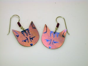 Image of Pink Pussy(cat) Earrings III