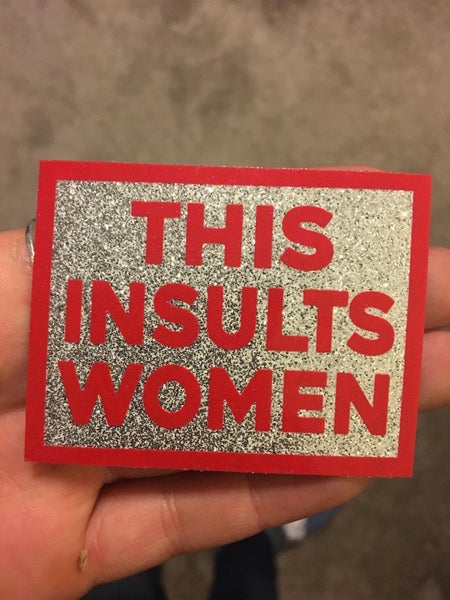 """Image of """"THIS INSULTS WOMEN"""" Glitter Stickers"""