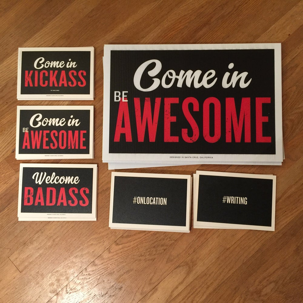 Image of Mini Be Awesome Signs Cardboard