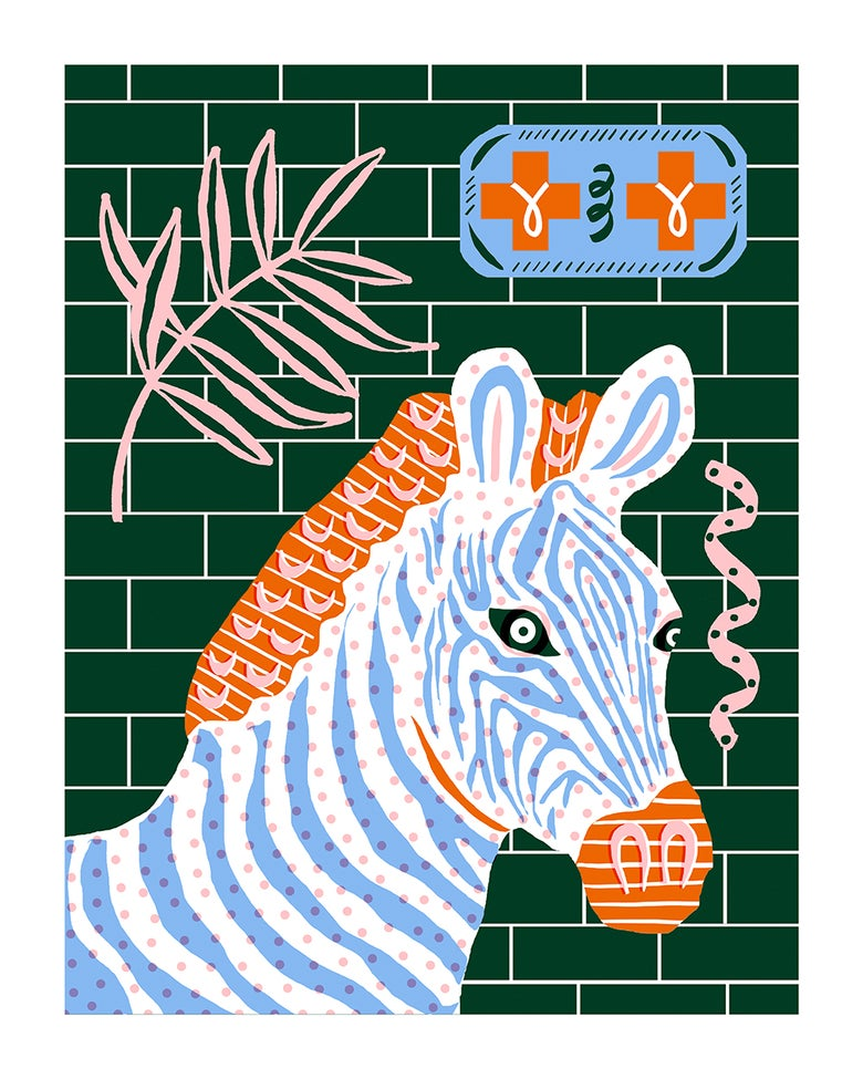 Image of Zebra Crossing Print