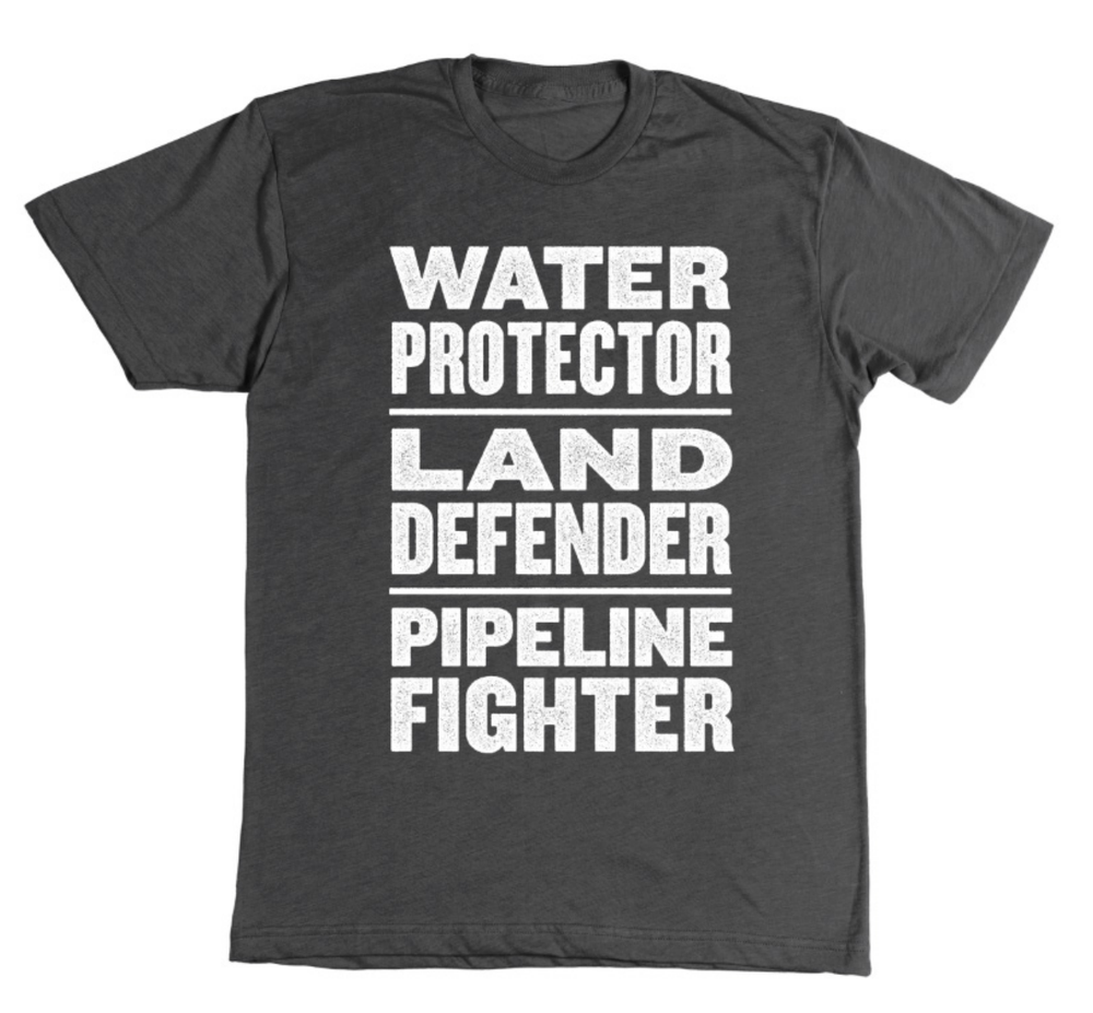 Image of Water Protector. Land Defender. Pipeline Fighter t-shirt (black)