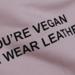 Image of [OBD] 'YOU'RE VEGAN BUT WEAR LEATHER' SALMON PINK SWEATSHIRT