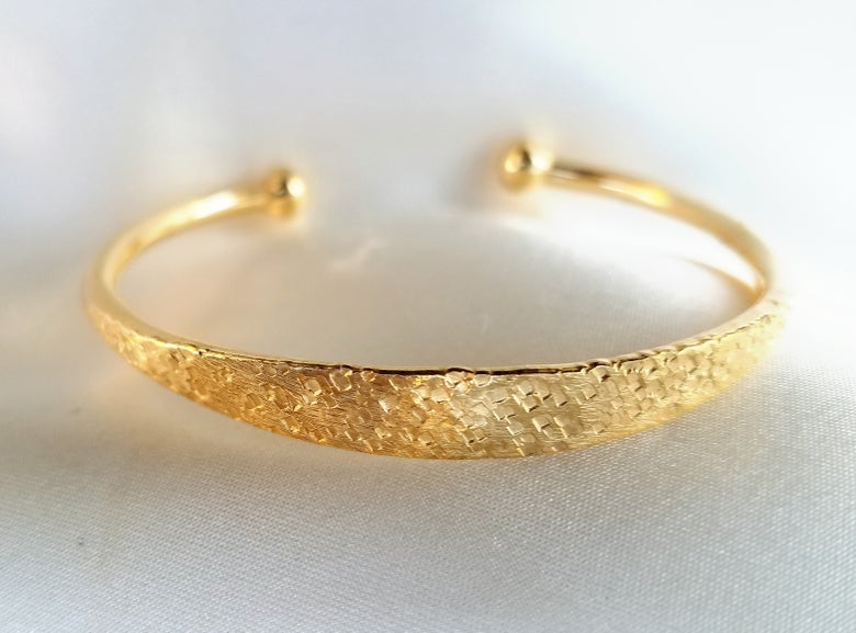 Image of Hammered Textured Bangle
