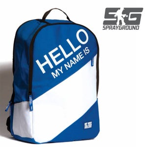 "Image of ""HELLO MY NAME IS"" BACKPACK SPRAYGROUND"