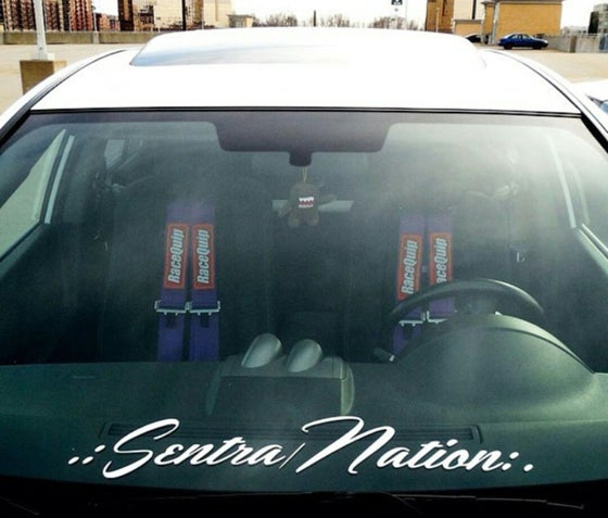 "Image of ""Sentra Nation"" logo Full Size Banner (24.6"" x 3.75"")"