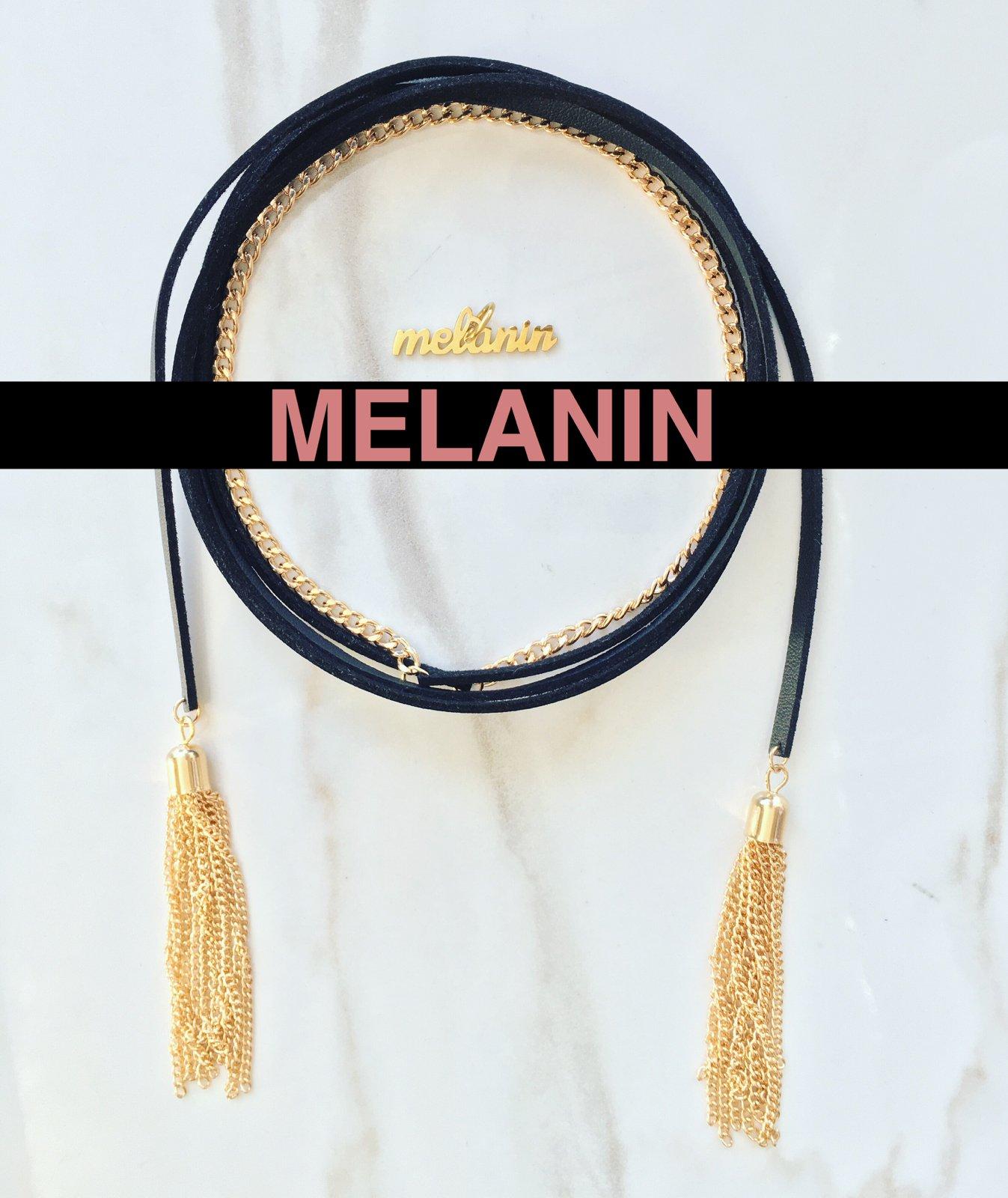 Image of Leather Rope w/ Melanin Charm
