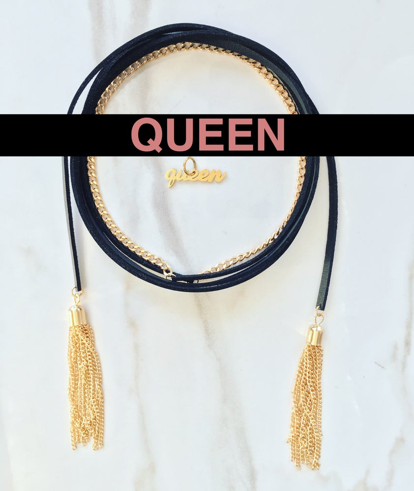 Image of Leather Rope w/ Queen Charm