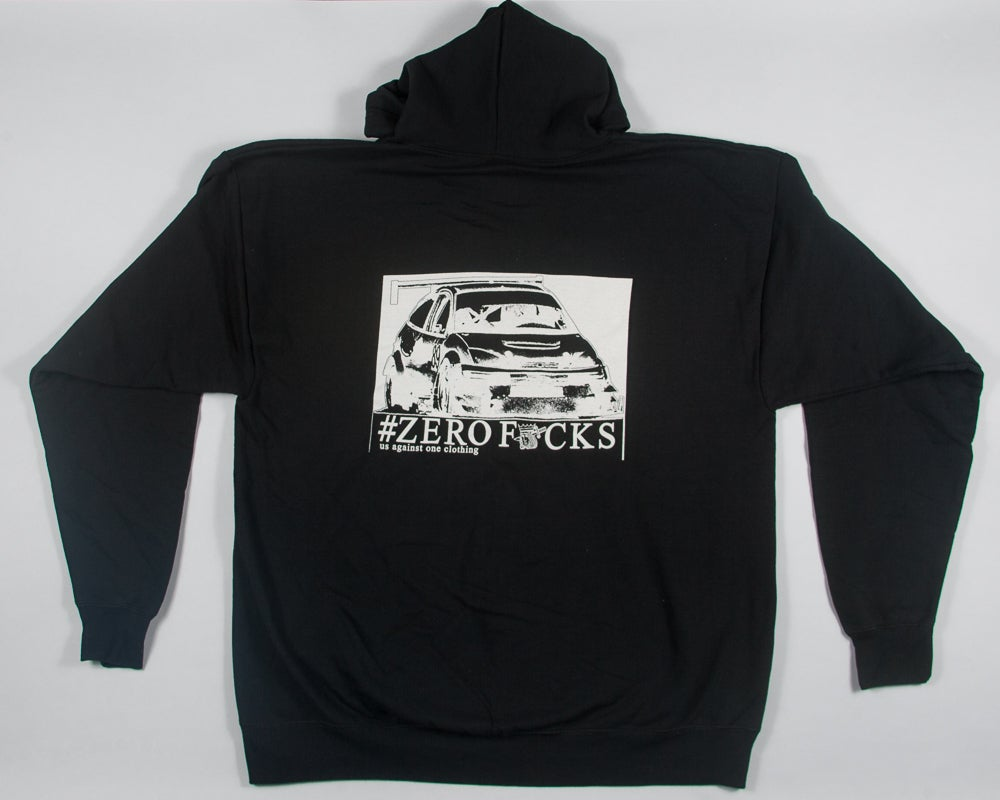 Image of Us Against One Clothing UAO Zerofucks Racing Zip Up Hoodie