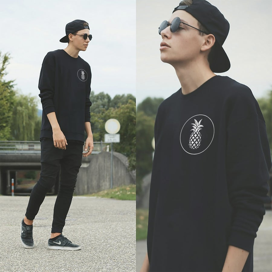 Image of 'Good To The Last Drop' Black Long-Sleeve