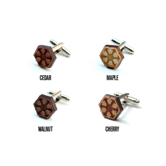 Image of TIMBER Galactic Federation Wood Cufflinks