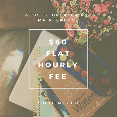 Image of Website update hourly rate