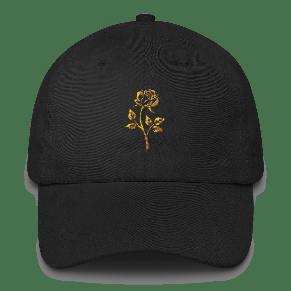 Roze Gold Dad Hat - Black