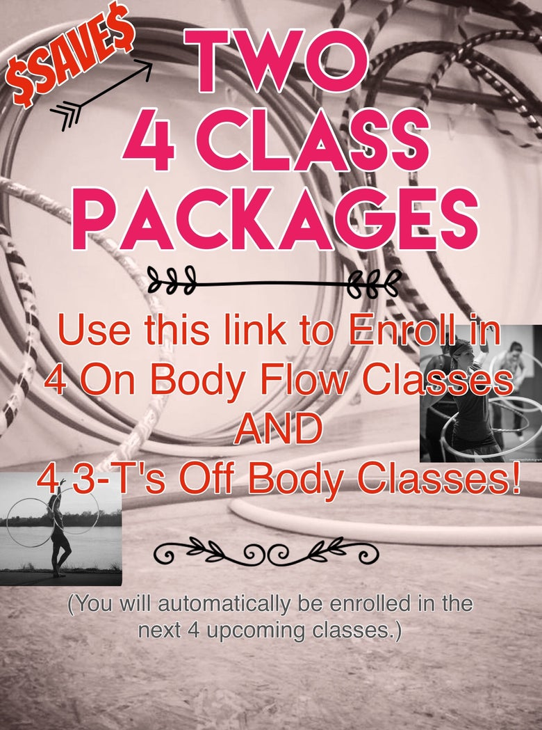 Image of TWO 4 Class Packages for On Body Flow AND 3-T's Off Body Flow Classes