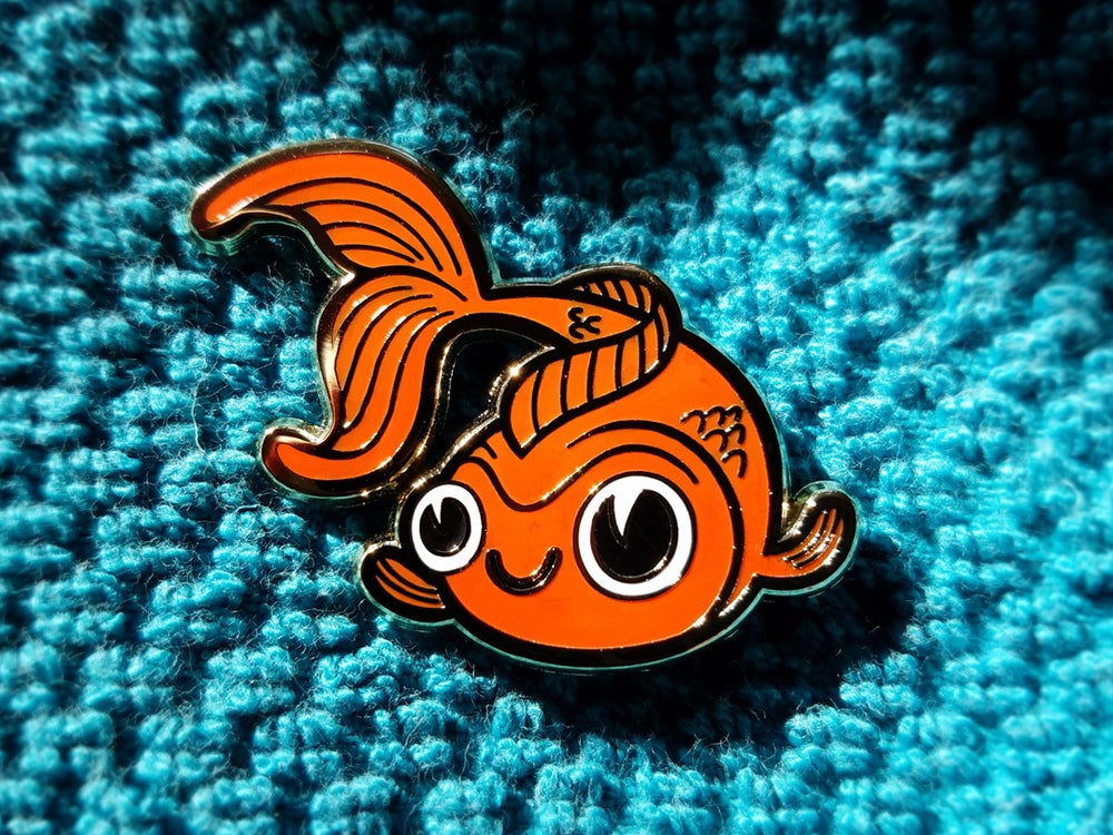 Image of Goldfish Lapel Pin