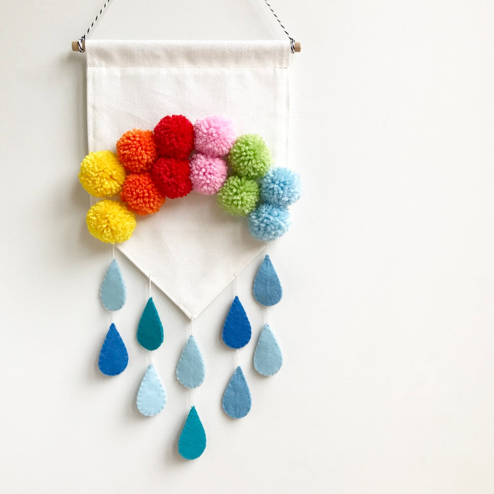 Image of Pompom Rainbow Banner - PRE ORDER