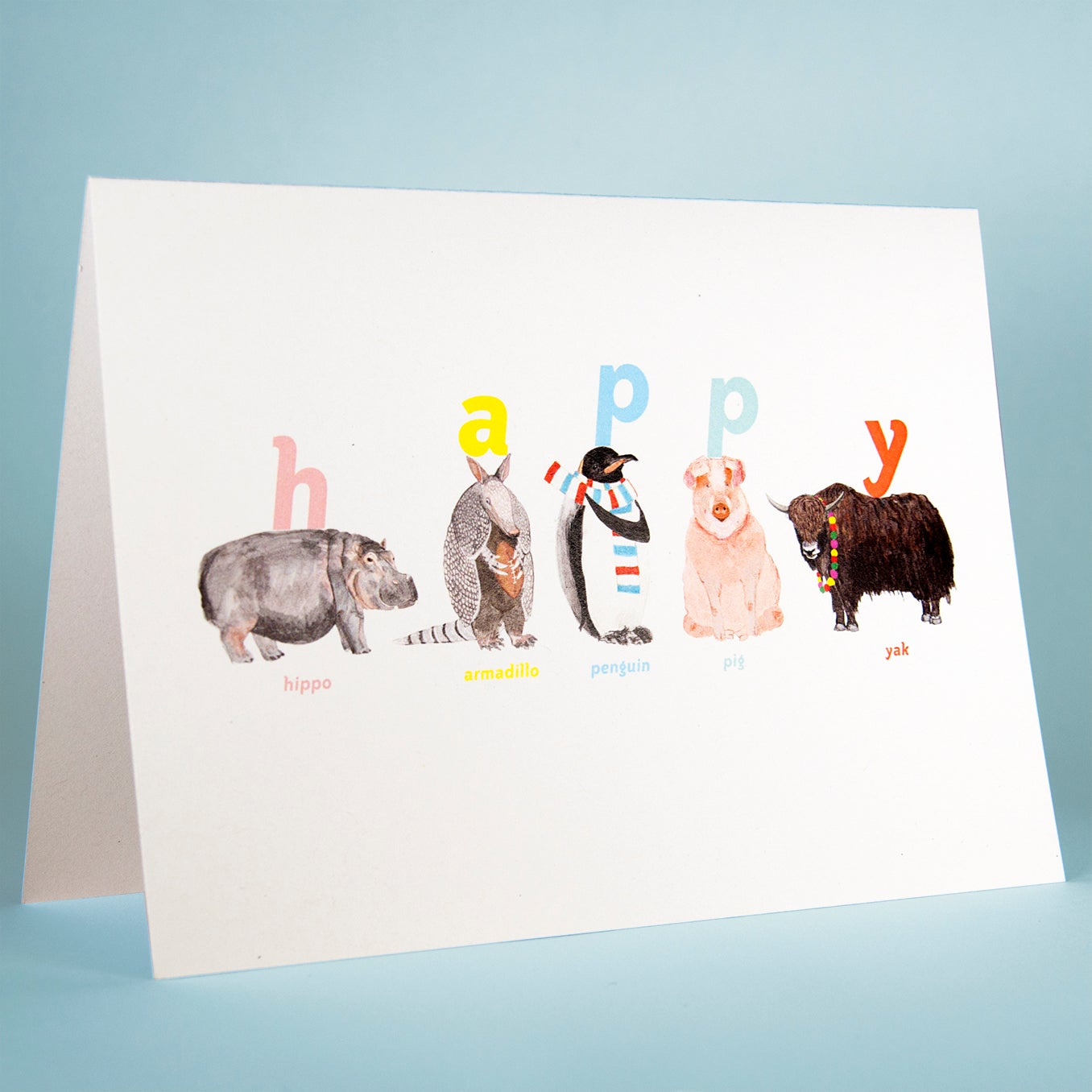 Image of Happy Animal Card