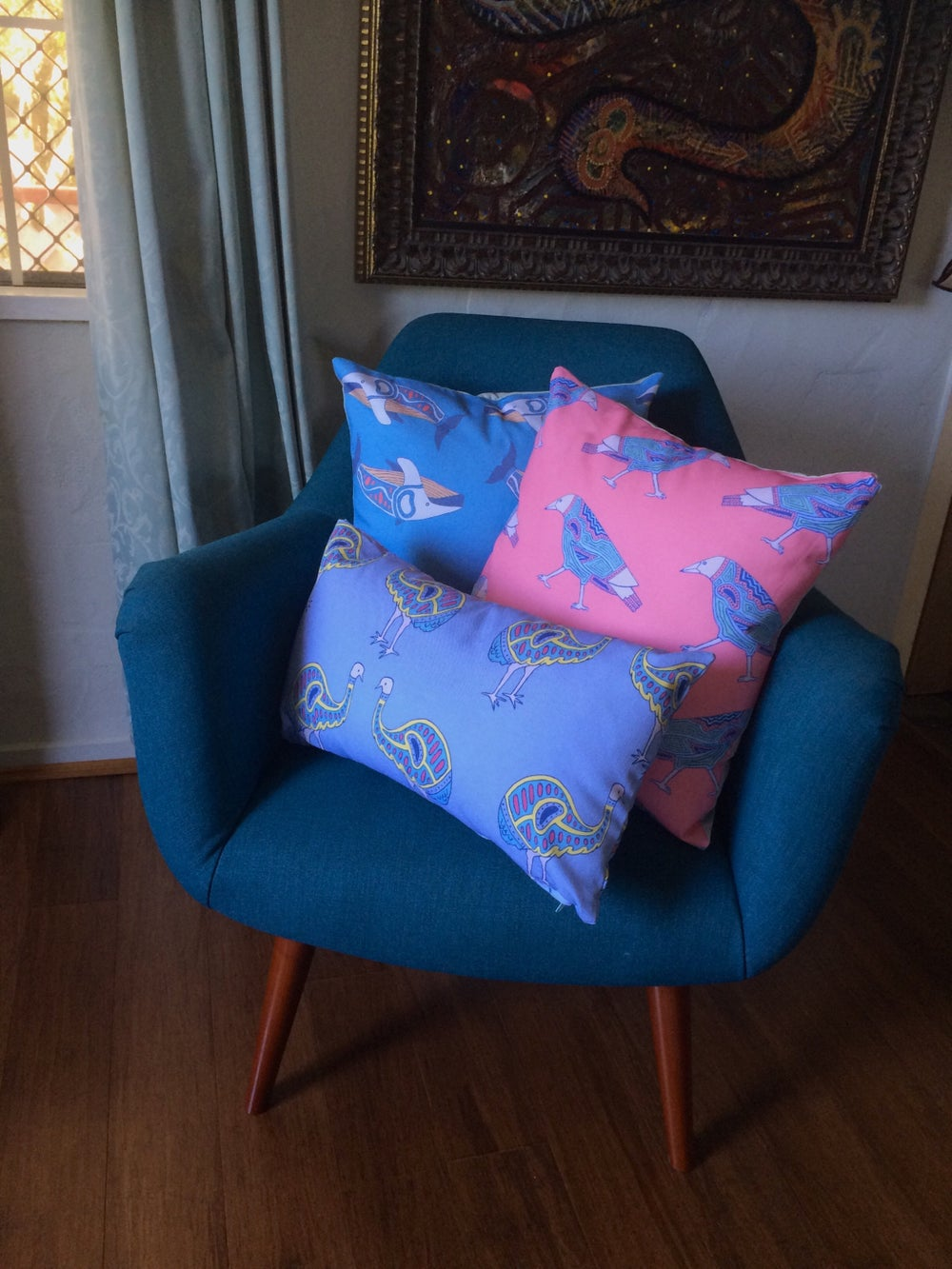 Square animals canvas cushion covers