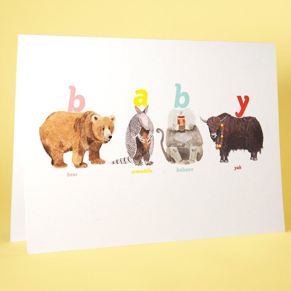 Image of Baby Animal Card