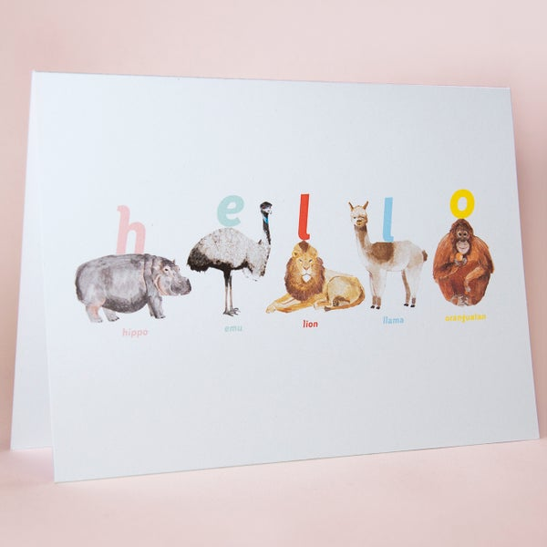 Image of Hello Animal Card