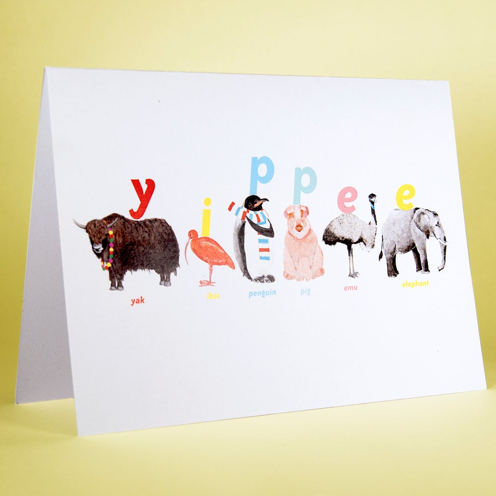 Image of Yippee Animal Card