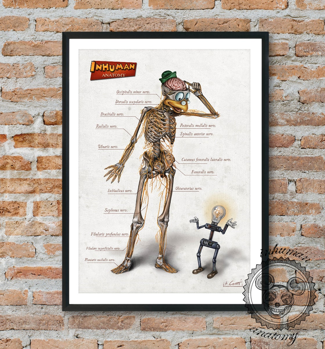 Image of INHUMAN ANATOMY- Gyro's anatomy - limited edition of 100 Giclèe print on fine art canvas