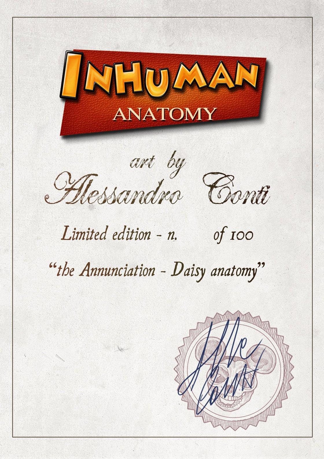 Image of INHUMAN ANATOMY - Daisy's anatomy - limited edition of 100 - Giclèe print on fine art canvas