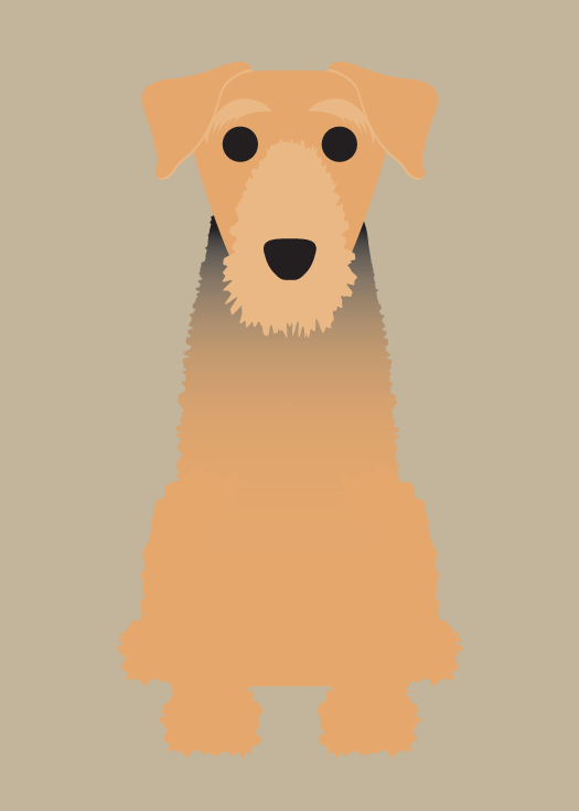 "Image of ""A"" Dog Collection: Airedale, Australian Cattle Dog"