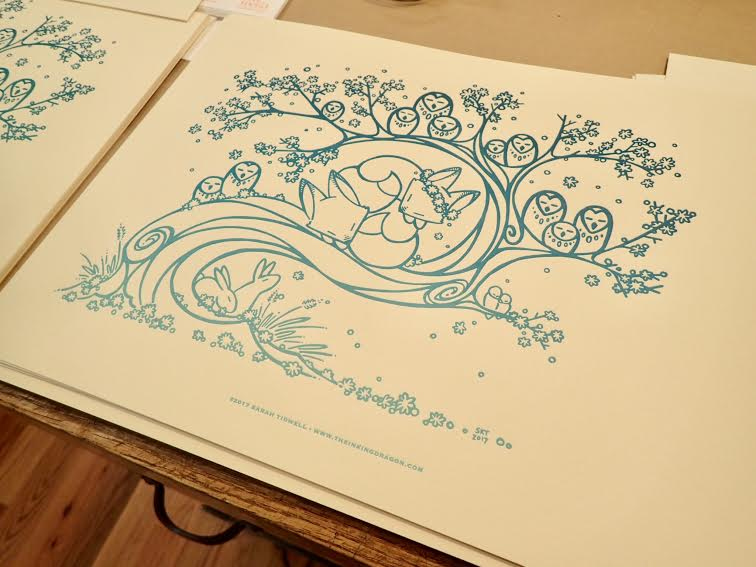 Image of 'Owl Hollow' - Letterpress Print