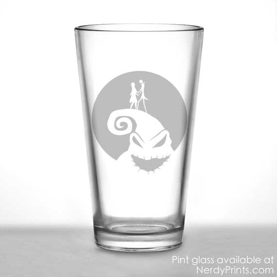 Image of Jack and Sally Pint Glass