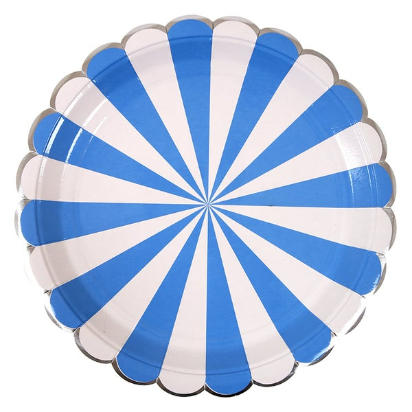 Image of Large Blue Striped Plate