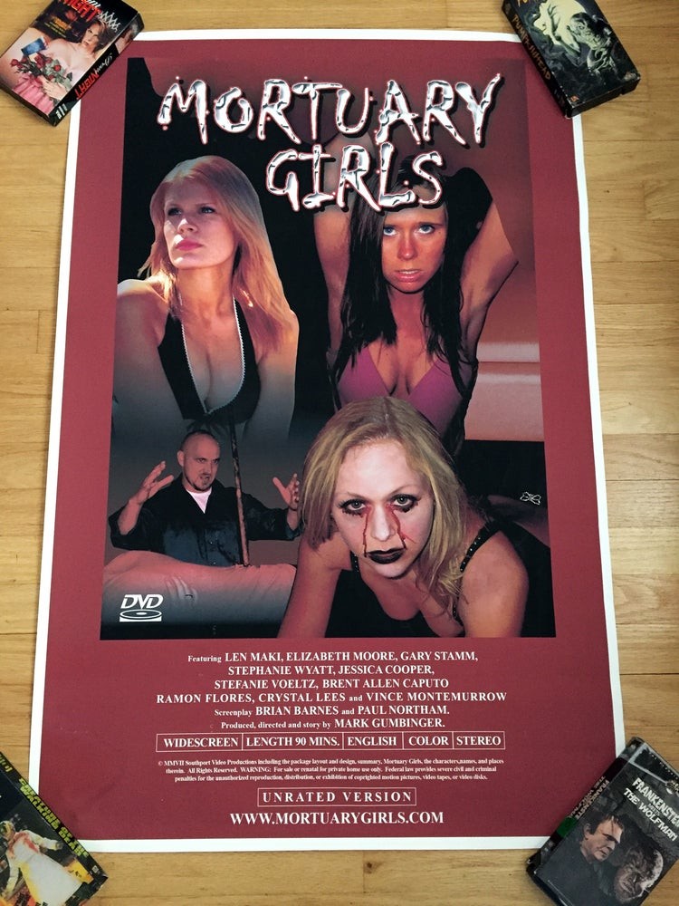 Image of 2007 MORTUARY GIRLS Original Video Promotional Movie Poster
