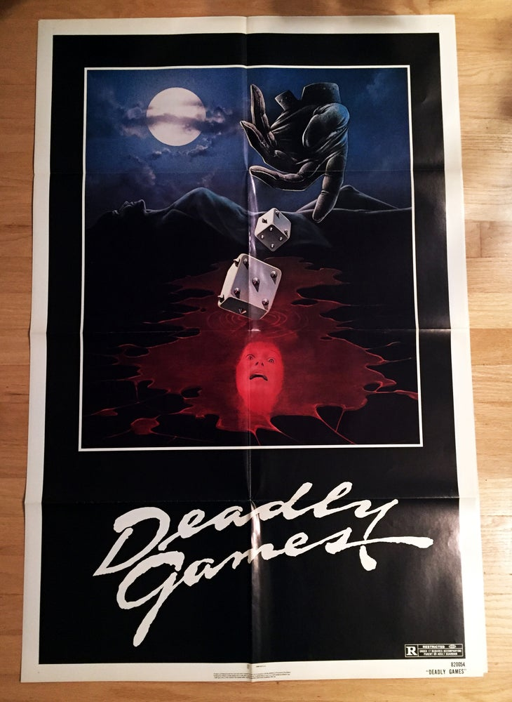Image of 1982 DEADLY GAMES Original U.S. One Sheet Movie Poster