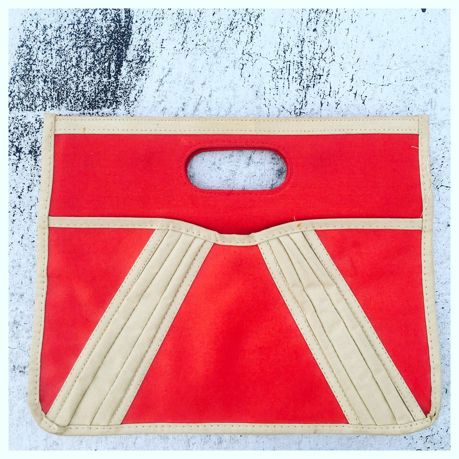 Image of Canvas Color block Clutch