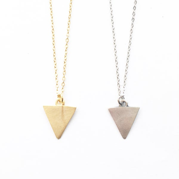 Image of Triangle Necklace - 10% off