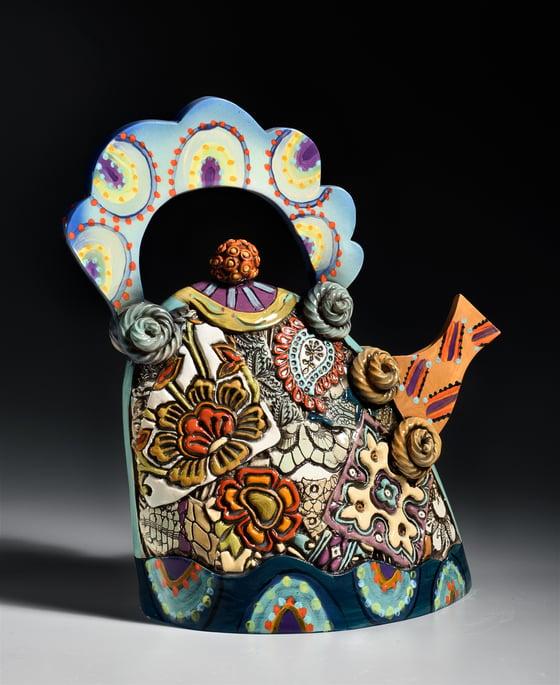 Image of Extra Large  Ceramic Teapot
