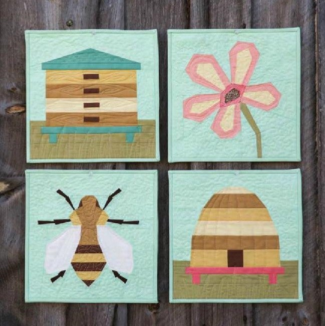 Image of Beetopia Quartet Mini Quilt Patterns