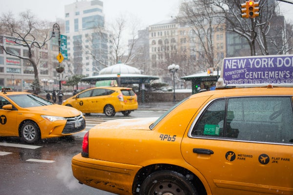 Image of Cab in the Snow 1