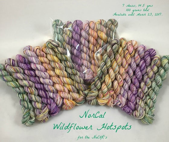 Image of NorCal Wildflower Hotspots, Mini Skein Set, 7 minis, 100 grams total