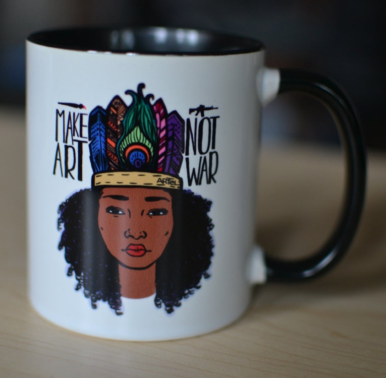 Image of Make Art/Not War Mug