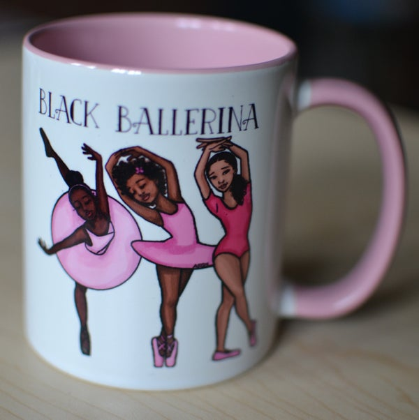 Image of Black Ballerina Mug