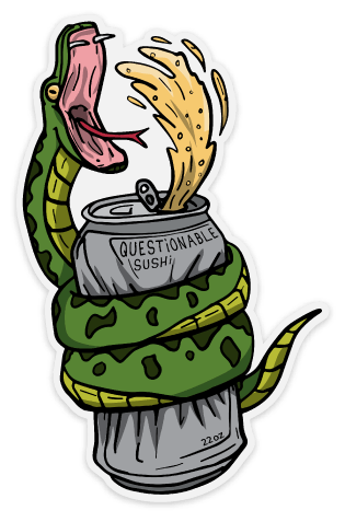 Image of Party Snake Sticker - 3 pack