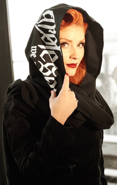 Image of GROTESQUE HOODED SCARF