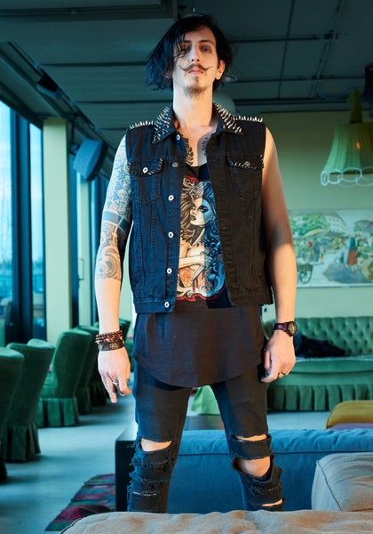 Image of DEMON BLACK DENIM VEST
