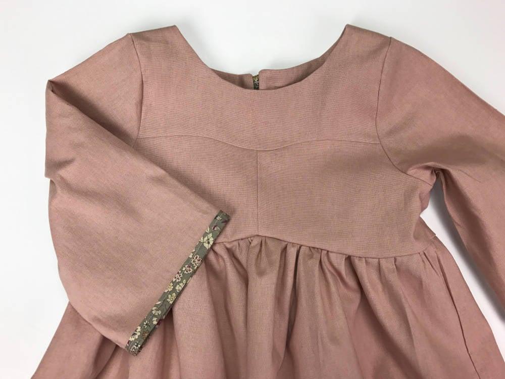 75d3331c7a Emmies Room — Rose Gardenia Dress- Linen Cotton Blend- SS17